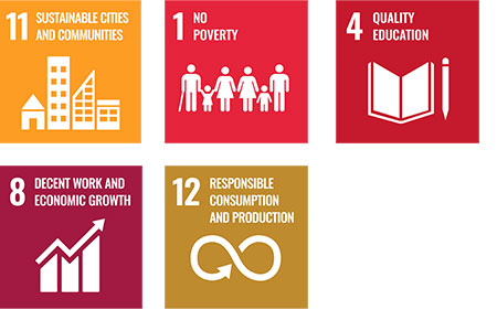 Goal11_Goal 11: Sustainable cities and communities, Sustainable cities and communities Goal1_No poverty, Goal4_Quality education, Goal8_Decent work and economic growth, Goal12_Responsible consumption and production